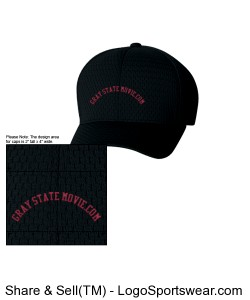 Six Panel Low Profile Athletic Mesh Flexfit Cap Design Zoom